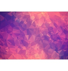 Purple pink abstract background polygon vector image