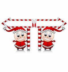 Santa's little helpers vector