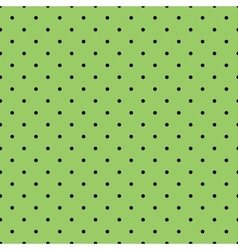 Tile black polka dots on green background vector