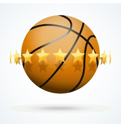 Basketball ball with golden vector