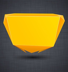 Announcement orange paper origami balloon vector
