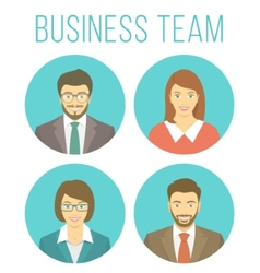 Business people avatars vector