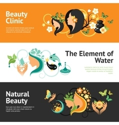 Beauty banner set vector