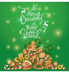 Xmas ginger card 1 380 vector