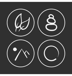Hand drawn zen icons vector