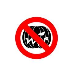 Stop halloween it is forbidden to celebrate the vector