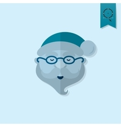 Santa claus head vector
