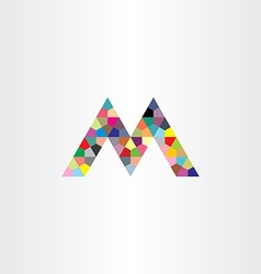 M letter colorful geometry design element vector