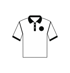 White men polo shirt icon vector