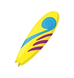 Surfboard icon in cartoon style vector