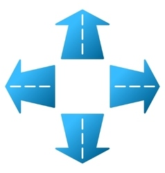 Road directions gradient icon vector