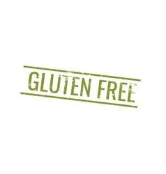 Gluten Free label vector image