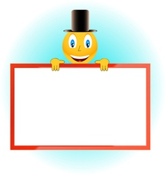 The smiling person and framework vector