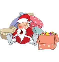 a Cute Santa Claus and Christmas vector image