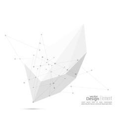 Abstract polygonal geometric shape vector