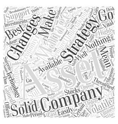 Asset management in a volatile economy word cloud vector