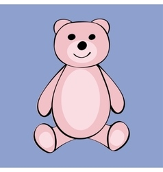 Bear Funny cartoon animal toy vector image vector image