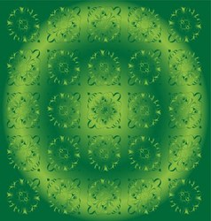 Beautiful circle green light floral background vector
