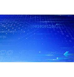 Blue tech composition vector