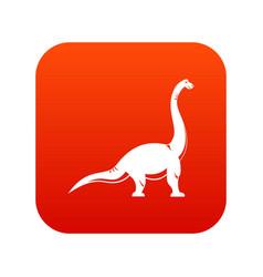 brachiosaurus dinosaur icon digital red vector image vector image