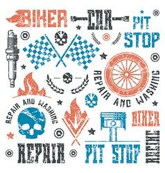 Car repair and racing badges vector