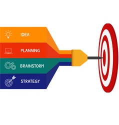 Dart target success business concept infographics vector image