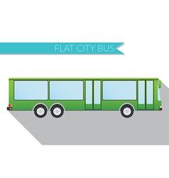 Flat design city transportation city bus side view vector