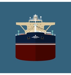 Front view of oil tanker vector