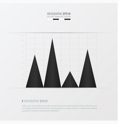 graph and infographic design black and white vector image