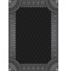 gray framework vector image vector image