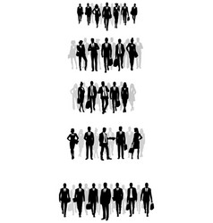 Groups of businessmen silhouettes vector