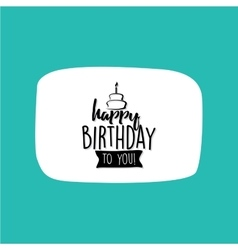 Happy birthday label vector