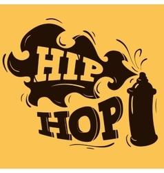 Hip hop label design with a spray balloon vector