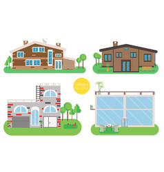 house home exterior set in vector image vector image
