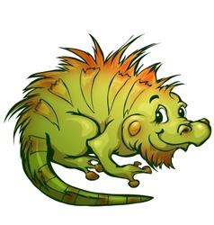 Iguana in cartoon style vector