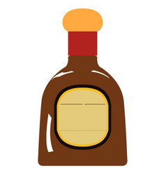 Isolated rum bottle vector