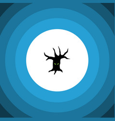Isolated tree monster flat icon terrible vector