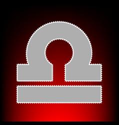 Libra sign postage stamp or old vector
