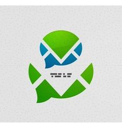 Modern 3d paper speech bubble design vector image vector image