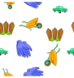 Ranch pattern cartoon style vector