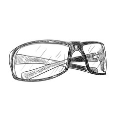 sketch of glasses vector image