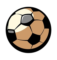 The football vector image