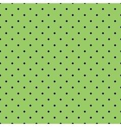 Tile black polka dots on green background vector