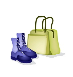 Travel bag and women shoes of traveller vector
