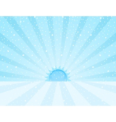 winter snowy sunrise vector image vector image