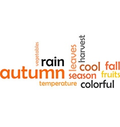 Word cloud autumn vector