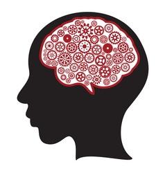 Zena mozak gear vector image