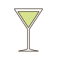 Cocktail alcohol drink beverage icon vector