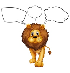 A strong lion with empty callouts vector image