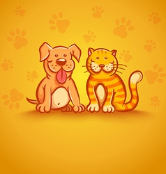 Pets yellow vector